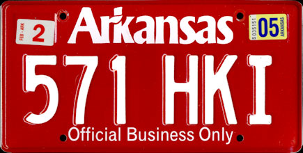 Arkansas -                           2005 Base Official Business Only