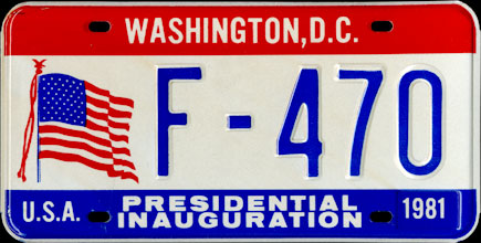 District of Columbia - 1981 Presidential Inaugural