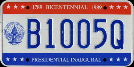 District of Columbia - 1989 Presidential Inaugural