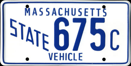 Massachusetts -                       1988 Base State Vehicle