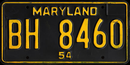 Maryland - 1954                   Passenger