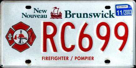 New                                     Brunswick - 2003                                     Firefighter/Pompier