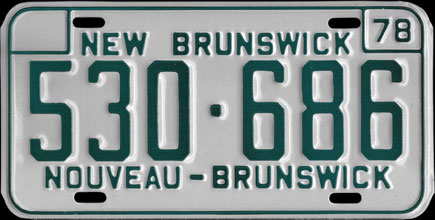 New                             Brunswick - 1978 Passenger