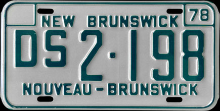 New                             Brunswick - 1978 Dominion Service