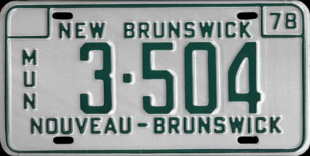 New                             Brunswick - 1978 Municipal