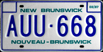 New                                   Brunswick - 1987 Passenger