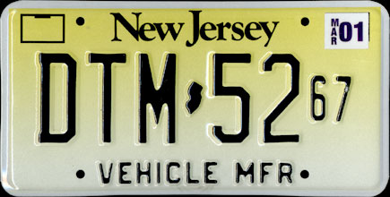 New Jersey - 2001                   Vehicle Manufacturer