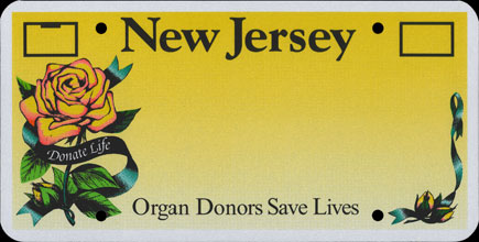 New                   Jersey - 2003 Organ Donors 3M Prototype Blank