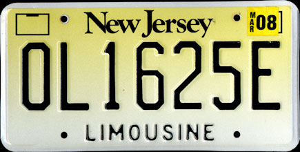 New Jersey -                           2008 Limousine