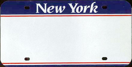 New York -                             Special Plate Blank 1993