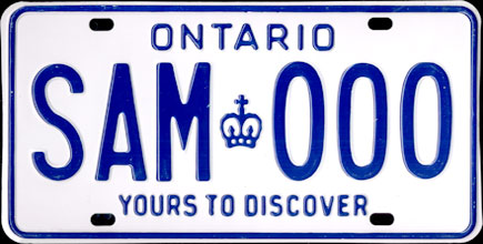 Ontario - 1982 Passenger Sample