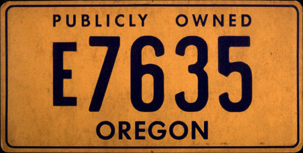 Oregon - Publically                   Owned 1973 Base