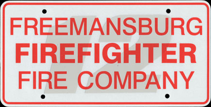 Pennsylvania - Freemansburg Fire Company Front                   Plate